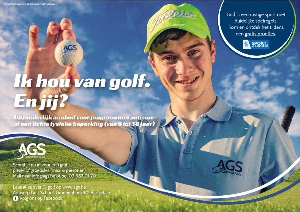 Dit is een poster om de G-golf werking op AGS bekend te maken. Op de afbeelding zie je een G-sporter.